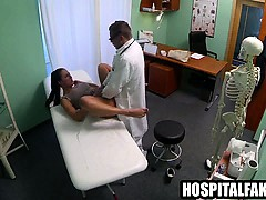MILF patient sucks cock and...
